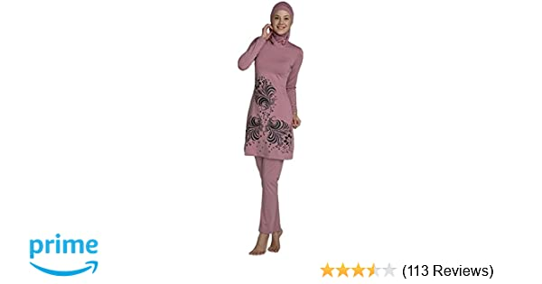 49ca0272285a08 YEESAM Muslim Swimsuit Islamic Full Cover Modest Swimwear Beachwear Burkini  at Amazon Women s Clothing store