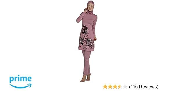 18f0693d7c6 YEESAM Muslim Swimsuit Islamic Full Cover Modest Swimwear Beachwear Burkini  at Amazon Women's Clothing store: