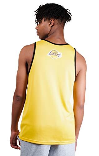 Ultra Game NBA Los Angeles Lakers Mens Jersey Tank Top Mesh Sleeveless Muscle T-Shirt, Team Color, Medium