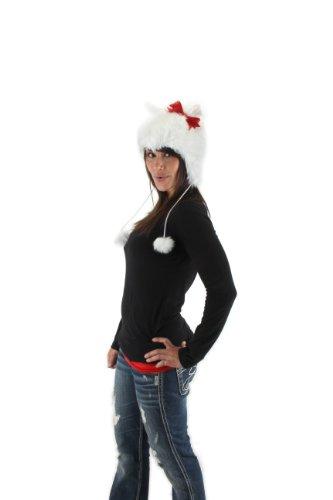 White Kitty Hoodie Hat (elope White Kitty Hoodie Hat)