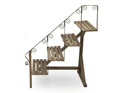 Portavasi A Scaletta In Legno : Scaletta in legno portavasi amazon giardino e giardinaggio