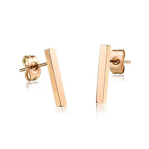 gold bar earrings - 7