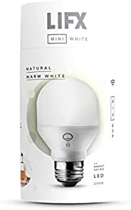 LIFX Mini White (A19) Wi-Fi Smart LED Light Bulb, Dimmable, Warm White, No Hub Required, Works with Alexa, App