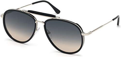 (Sunglasses Tom Ford FT 0666 Tripp 01B shiny black/gradient smoke)