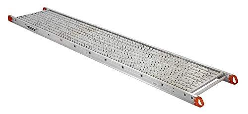 Louisville Ladder P22420 Aluminum Scaffold Plank, 20-feet, Silver