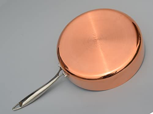 Kila Chef Tri-Ply Copper Bottom Saute Pan with Lid Fry2807
