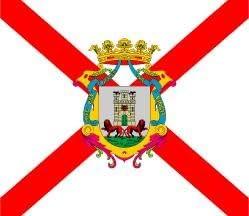 Banderas Online - Bandera de Vitoria con escudo Tamaño 250x150 ...