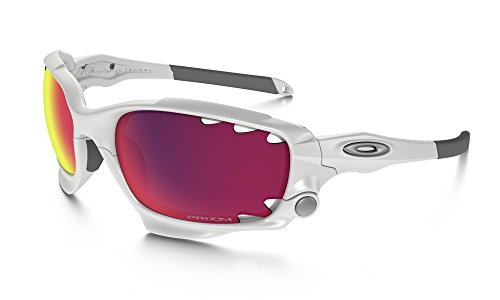 Oakley Racing Jacket Sunglasses Polished White / Prizm Road & Care Kit - Sunglasses Jacket Oakley Racing