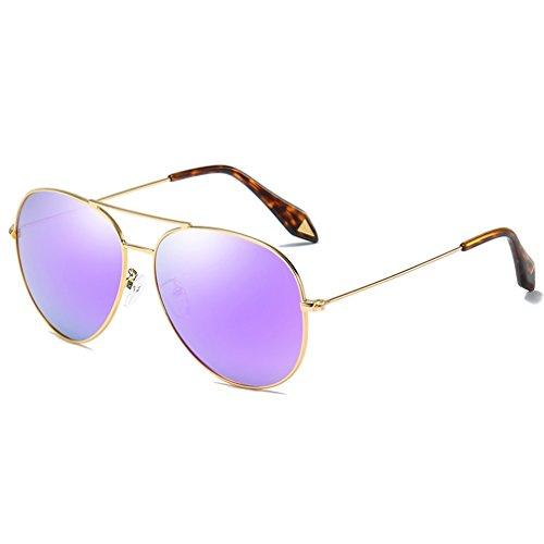 Film LUHUIYUAN De Glare Classic De Purple Driving Polarizadas Sol Gafas Gafas Glare Large Silver Sol Frame rrWU4cnq