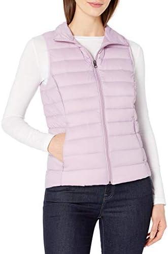Amazon Essentials Women`s Lightweight Water-Resistant Packable Down Vest