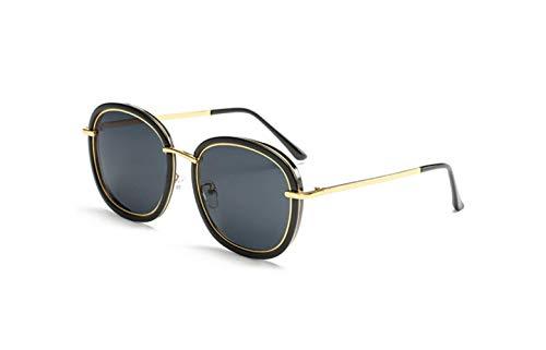 Polarizadas Conducción De Gris UV De Conductor Gafas Negro Gafas Protección Marco Sol Conducción Retro liwenjun Sol Redondas De Brillante Gafas Polarizado HY5qwxt