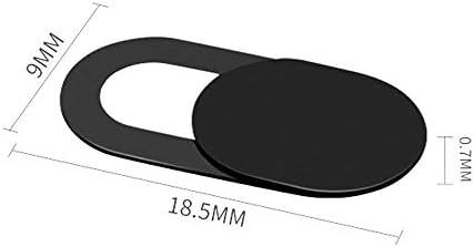 Funien ウェブカメラカバーシャッタースライダーユニバーサルアンチスパイカメラカバーウェブラップトップPCタブレット携帯電話レンズプライバシーステッカー