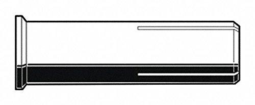 1/4''-20 Flange Drop-In Anchor, 1''L x 3/8'' Dia, 100 PK
