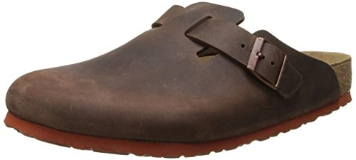 Birkenstock Unisex Boston Soft Footbed, Habana Oiled Leather, 41 M EU (Clogs Birkenstock Professional)