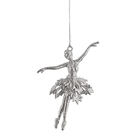 Image Unavailable. Image not available for. Colour: Silver Glitter Ballerina  Christmas Tree Decoration - Silver Glitter Ballerina Christmas Tree Decoration: Amazon.co.uk