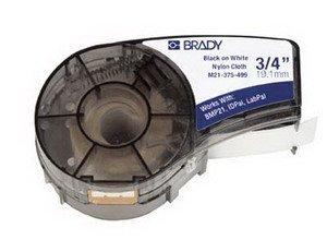 Brady Thermal Transfer Label, .750x21', B595, Black/White by BRADY WORLDWIDE INC