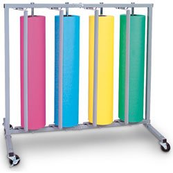 Nasco Vertical Paper Rack/Four-Roll Cutter with Casters (2 Locking) - Elementary Education Education Program - 3100185
