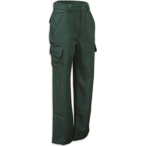 WORLD FAMOUS Men`s Wool Cargo Pant, 32, GREEN