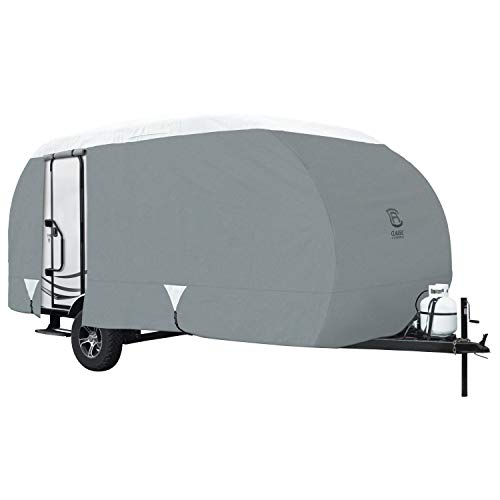 - Classic Accessories OverDrive PolyPro 3 Deluxe Teardrop R-Pod Travel Trailer Cover, Model 4