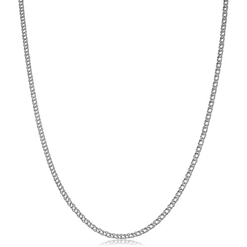 14k Weave Necklace - Kooljewelry 14k White Gold Diamond Weave Chain Necklace (2mm, 20 inch)