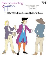 1680's - 1730's Breeches and Sailor's Slops Pattern Captain Jack Sparrow Based