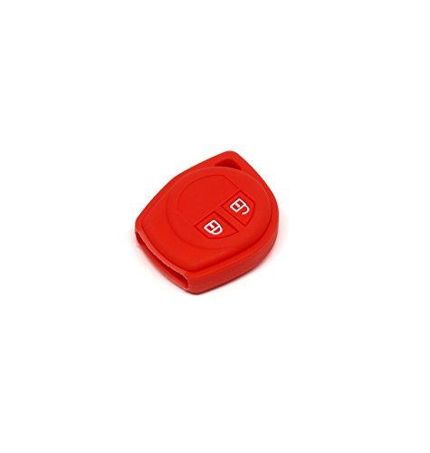 Suzuki Silicone Protecting Remote Key Case Cover Fob Holder for Suzuki Swift, Dzire, Ertiga, Ritz, Sx4, Wagon (red)