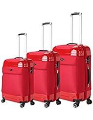 Brio Luggage Hybrid Hardside and Softside Expandable Suitcase Set #AE1116