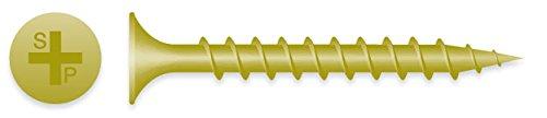 (3500) 6x2 Phillips Bugle Head Coarse Thread Exterior Yellow Zinc Deck Screw #138185