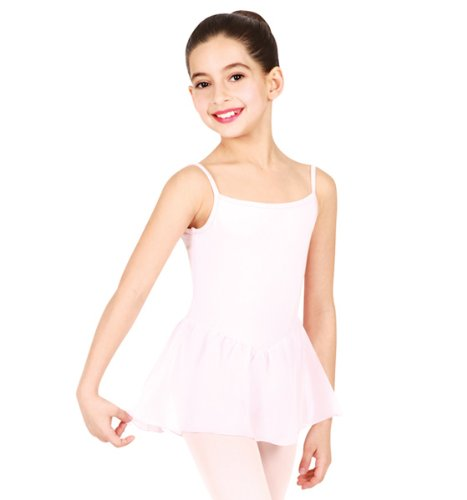 Bloch Girl's Camisole Leotard Chiffon Dress 4-6 Pink