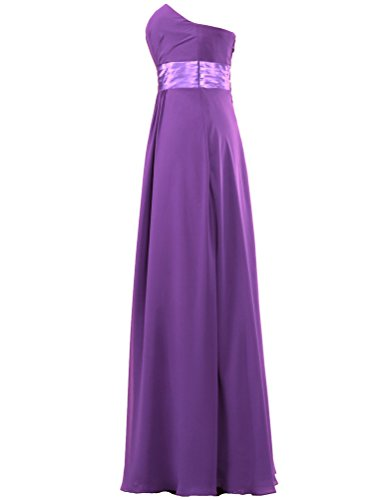 Long Bridesmaid Gown ANTS Chiffon Prom Strapless Dresses Purple Women's EtHtwW6qU