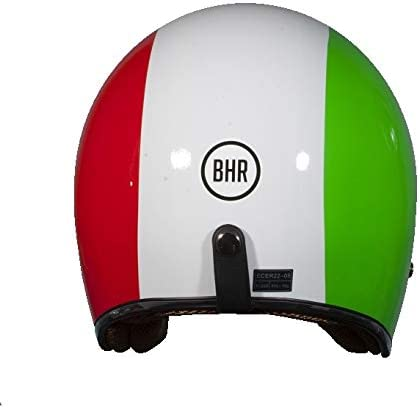 BHR Demi-Jet Modell 711 Helm 53//54 Bianco//Verde//Rosso