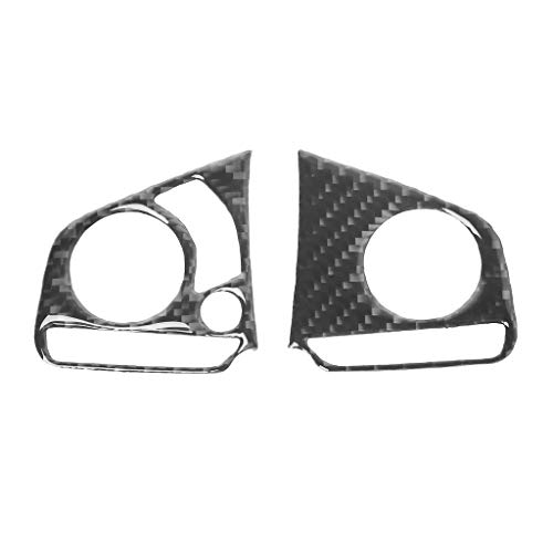 Autone 2pcs Carbon Fiber Car Steering Wheel Panel Cover Trim Decoration for 2016 2017 Honda Civic