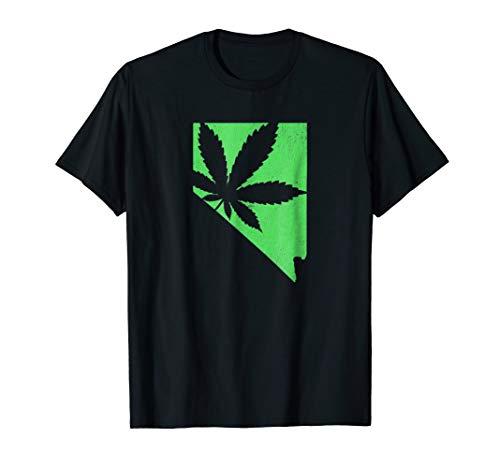 Nevada Pot Leaf 420 Marijuana Weed T-Shirt - Pot Jane Mary Leaf