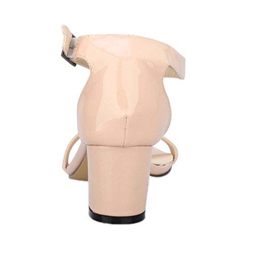 Sandalo Chunky Dress Strap Women's Nudo Buckle Kitten Ankle Hooh wqx0OcvaUp