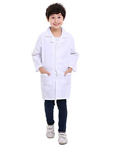 TOPTIE Kids White Lab Coat Child Costume for