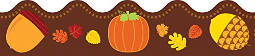 Acorns & Pumpkins Scalloped Borders -