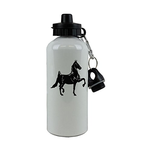 - Personalized Custom Horse Aluminum White Finish 20 Ounce 600ML Sport Water Bottle Customizable