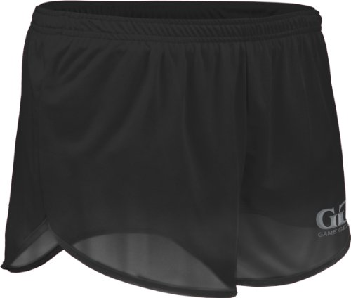 """TR60 Men's 2.5"""" Athletic Lightweight Track Short with Waistband and Side Vent (Large, Black)"""