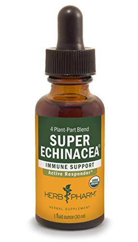 (Herb Pharm Certified Organic Super Echinacea Liquid Extract for Active Immune System Support - 1 Ounce)