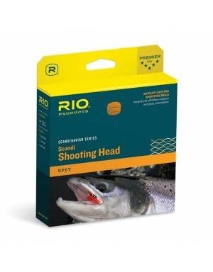 Rio Fly Fishing Fly Line Scandia Shad 28'. 210gr Fishing Line, Salmon/Orange