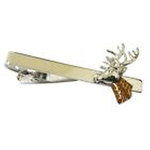 Mondaily - Deer Hunter Animal Tie Clip Silver Wedding Bar Clasp #PPTE5015