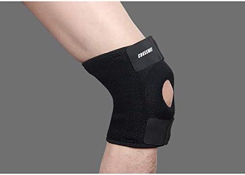 LilyAngel ユニセックス膝パッド バスケットボールバドミントン乗馬ハイキングランニングギア (Color : ブラック, Edition : Left leg)