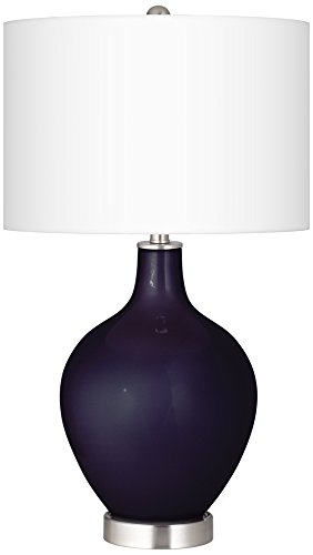 Midnight Blue Metallic Ovo Table Lamp (Blue Ovo Table Lamp)