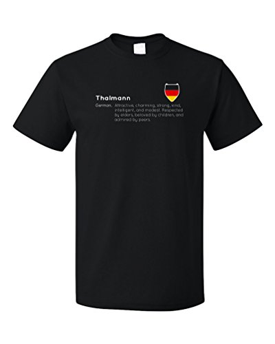 """Thalmann"" Definition | Funny German Last Name Unisex T-shirt"