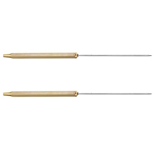 - MagiDeal 2pcs Copper,Stainless Steel Fly Tying Bodkins Half Hitch Tools Handle Fly Tying Dubbing Needle 12cm