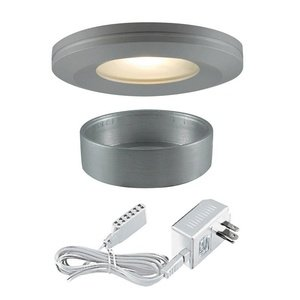 Edged Slim Disk - Jesco Lighting KIT-PK404-BA-A Halogen Beveled Edge Slim Disk Kit, Aluminum