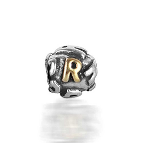 Bling Jewelry 925 Sterling Silver Letter R Alphabet Bead Screw Core Fits Pandora