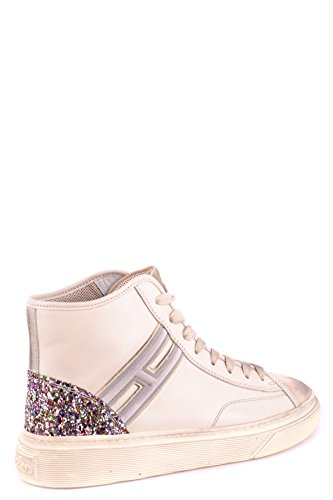 Leather Hogan Sneakers Hi Women's MCBI148461O Top Beige tanwgvqa