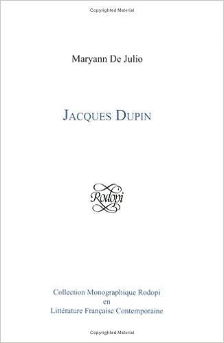 Download Jacques Dupin pdf, epub ebook