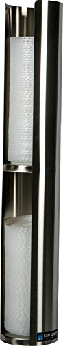 San Jamar L3402 Wall-Mount Cup Lid Dispenser, Stainless Steel ()